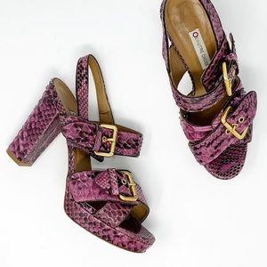 Vintage L'AUTRE CHOSE Python Ankle Strap High Heel